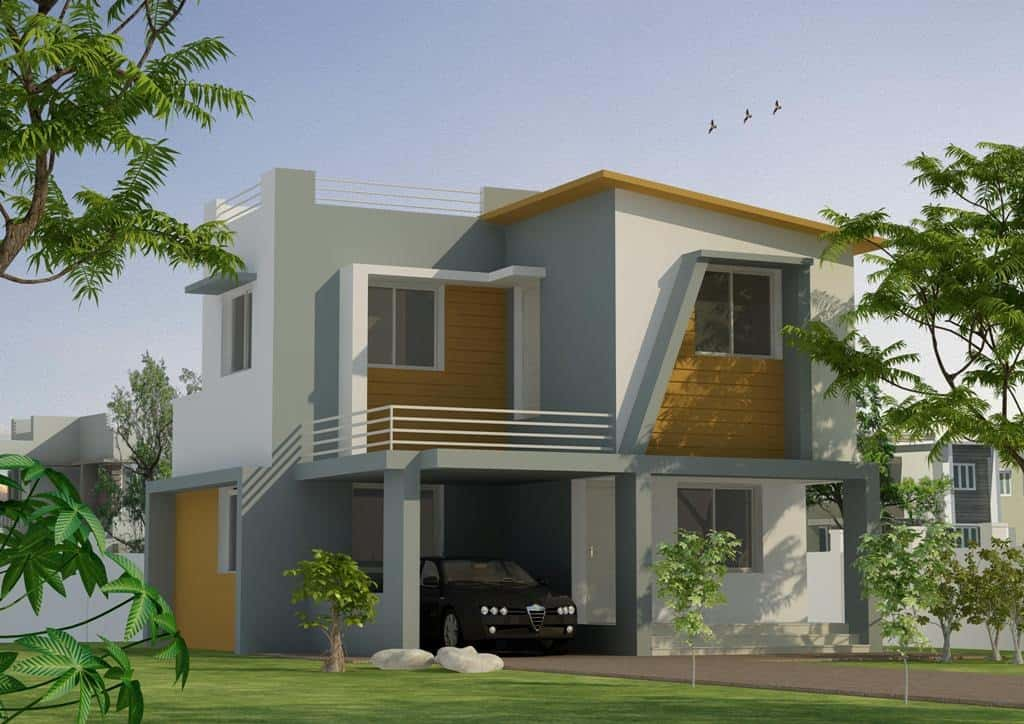 Kerala Two story House Elevation design at 1356 sq.ft