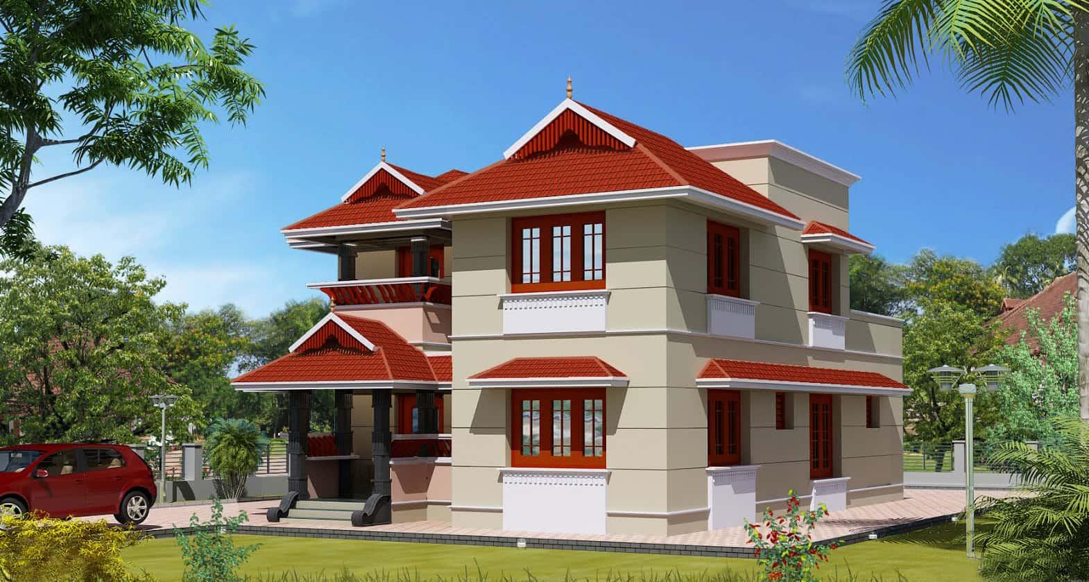 Modern kerala house design 2013 at 2980 for Kerala home design 2013