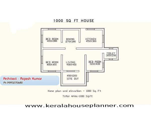 3 bedroom plans in kerala style
